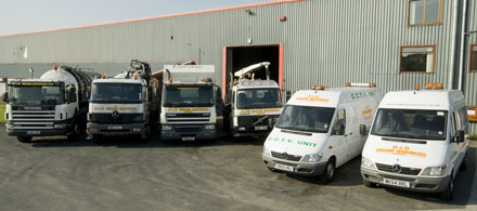 Preston Drain Services vehicles